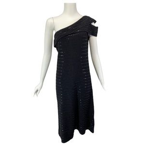 NWT St. John Couture Knit Beaded Cocktail Dress 6